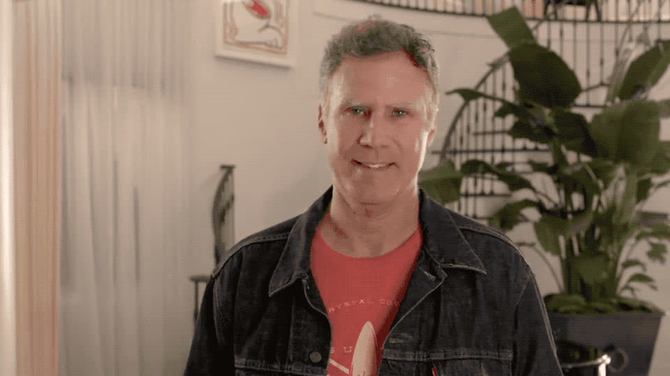 around, central, comedy, confused, ferrell, house, kardashian, look, match, perfect, smile, wait, what, will, Will Ferrell looks for his perfect match in the Kardashian house GIFs