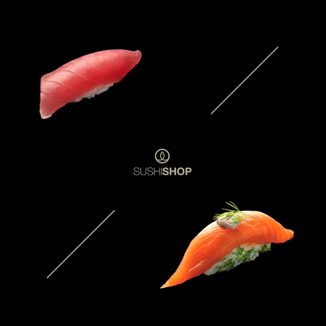 Watch and share Sushi Versus GIFs by SUSHI SHOP on Gfycat