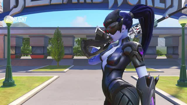 Watch flick GIF by @cmarbo on Gfycat. Discover more highlight, overwatch, widowmaker GIFs on Gfycat