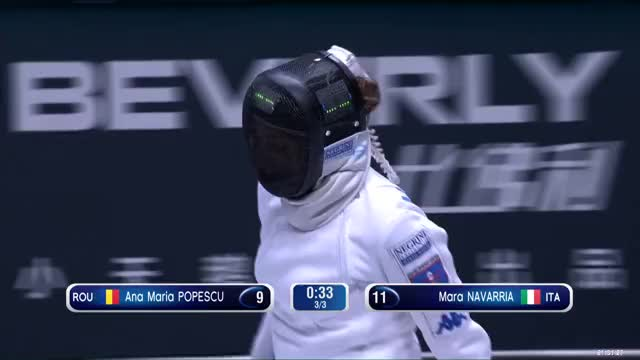 Watch Ana Maria POPESCU 9 GIF by Scott Dubinsky (@fencingdatabase) on Gfycat. Discover more gender: female, leftname: Ana Maria POPESCU, leftscore: 9, rightname: Moro NAVARRIA, rightscore: 11, time: 00001237, touch: double, tournament: wuxi2018, weapon: epee GIFs on Gfycat