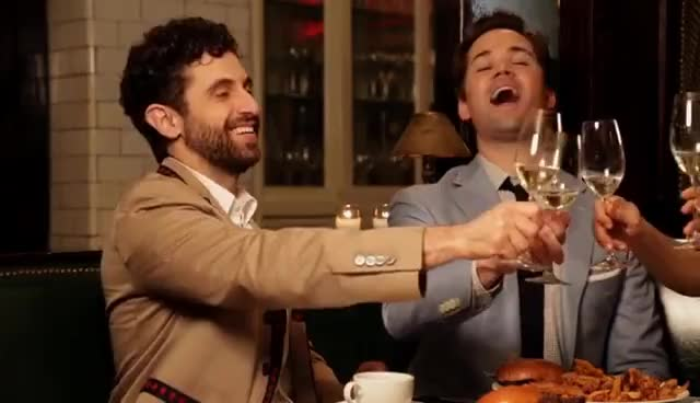 cheers, Dinner Party  Jenn Colella & the Cast of Falsettos GIFs