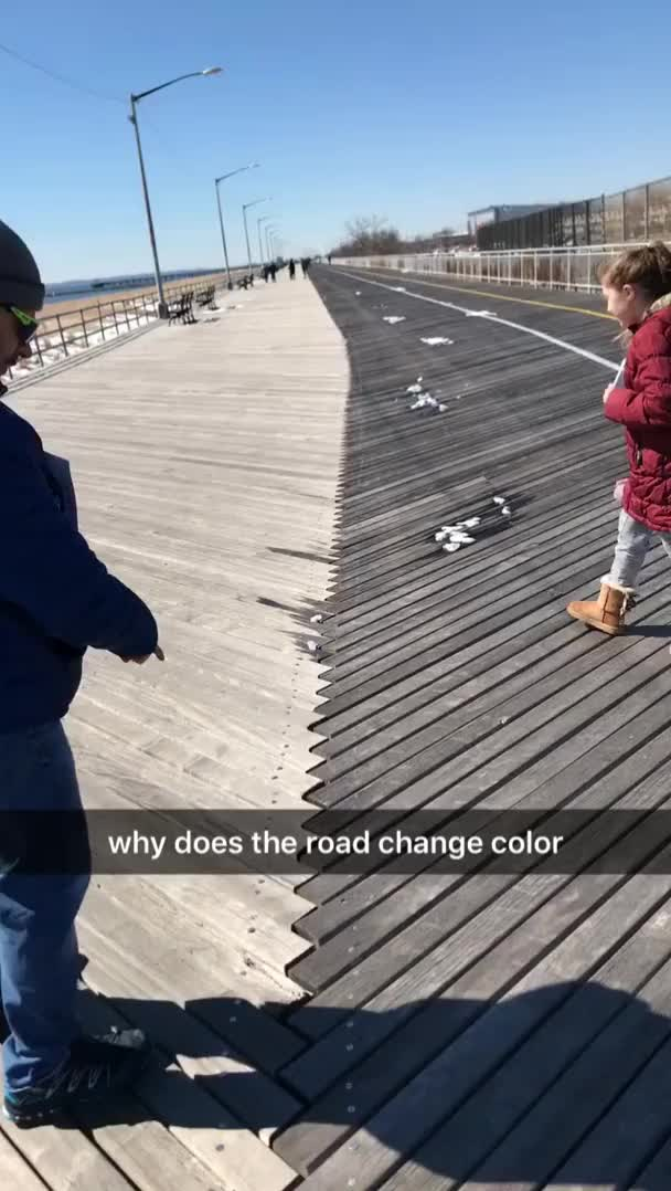 Watch and share Boardwalk Switches Colors When You Change Direction, Then Is The Same Color In The Middle GIFs by wild_cheesecake on Gfycat