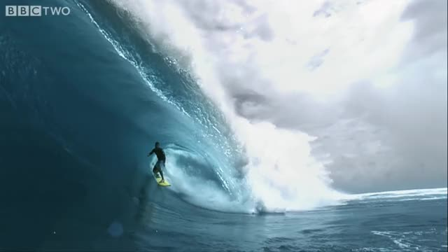 Watch HD: Super Slo-mo Surfer! - South Pacific - BBC Two GIF on Gfycat. Discover more gifs, monster, waves GIFs on Gfycat