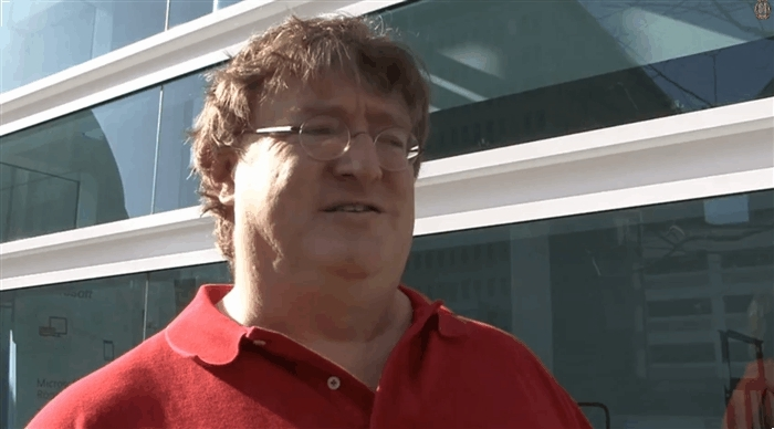 gabe newell, nah, naw, no, no way, nope,  GIFs