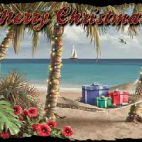 Watch and share Tropical Beach Ocean Merry Christmas Emoticon Emoticons Animated Animation Animations Gif GIFs on Gfycat