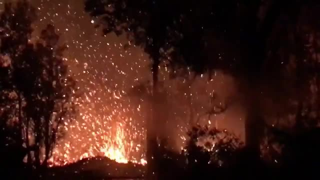 Watch Here's video of lava spurting from the ground in Leilani Estates early this m... GIF on Gfycat. Discover more related GIFs on Gfycat