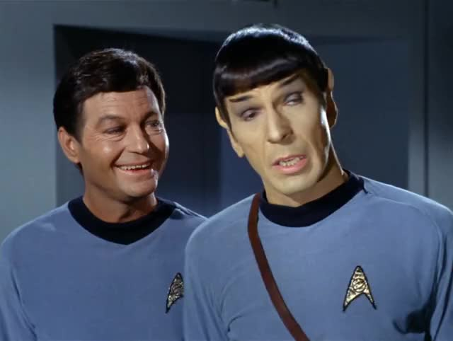 Watch and share Deforest Kelley GIFs and Leonard Nimoy GIFs by murphs33 on Gfycat