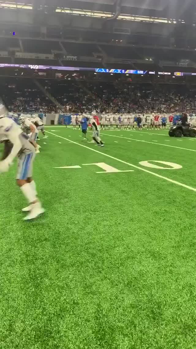 Watch and share [Lions] [Highlight] Calder Hodge, A Double Amputee, Throws A TD Pass During Lions Practice GIFs on Gfycat