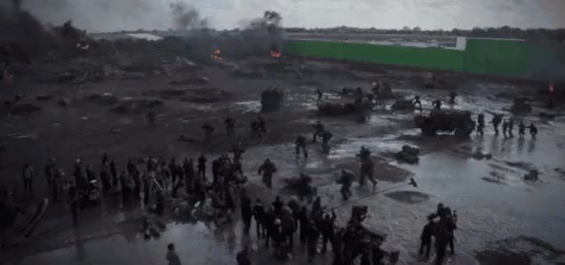 Watch Behind the scenes of shooting the beach deployment scene [Edge of Tomorrow] (x-post /r/Moviesinthemaking) (reddit) GIF on Gfycat. Discover more Damnthatsinteresting, ThingsThatBlowUp, damnthatsinteresting GIFs on Gfycat