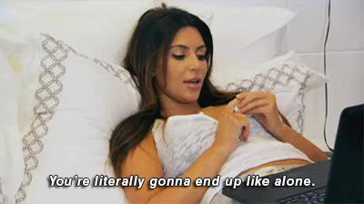 Watch and share Kim Kardashian GIFs and Alone GIFs on Gfycat