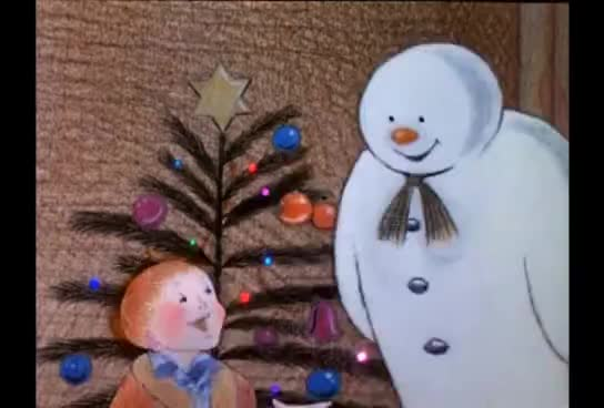snow man, snowman, The Snowman (1982) with Original Introduction GIFs