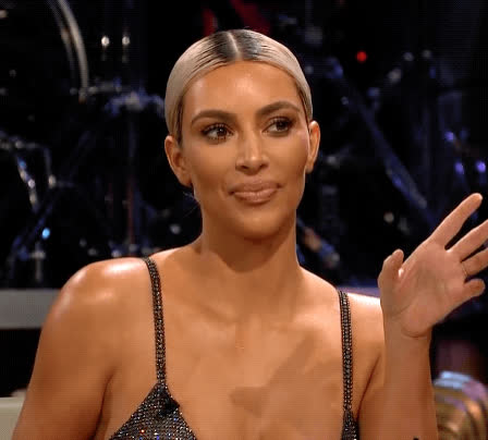 agree, approval, kim kardashian, mhmm, ok, the late late show, yep, yes, you right, Kim Kardashian Yep GIFs
