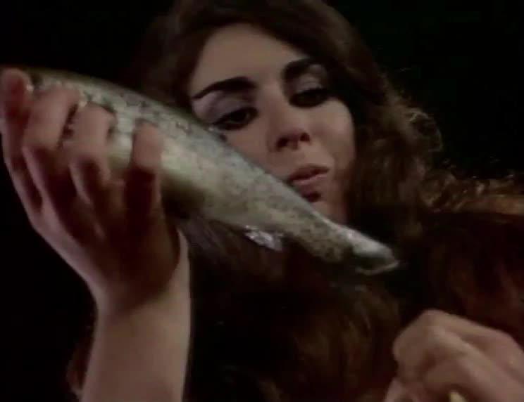 dance, dancing, erica gavin, fish, russ meyer, strange, table, vixen!, weird, Vixen - fish dance long GIFs