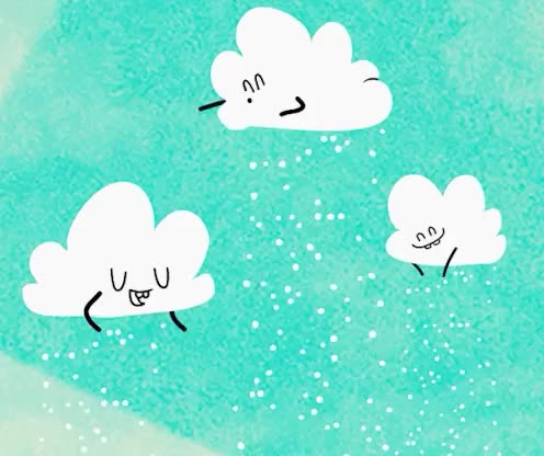 cloud, clouds, cute, dance, funny, it, let, make, nature, sky, snow, snowflakes, snowing, Let it snow GIFs
