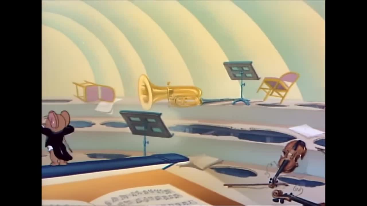Tom And Jerry, 52 Episode - Tom And Jerry In The Hollywood Bowl (1950) GIF