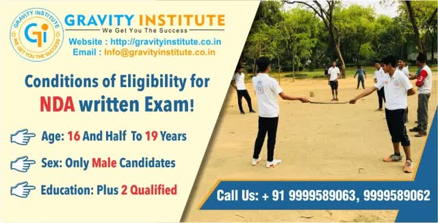 Conditions of Eligibility for NDA written Exam!