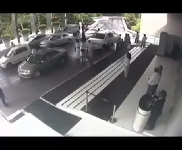Watch Hotel valet crashes Lamborghini. GIF on Gfycat. Discover more related GIFs on Gfycat