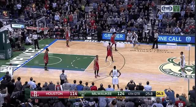 Hits the three and gets hyped