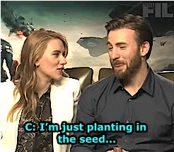 Watch and share Scarlett Johansson GIFs and Chris Evans GIFs on Gfycat