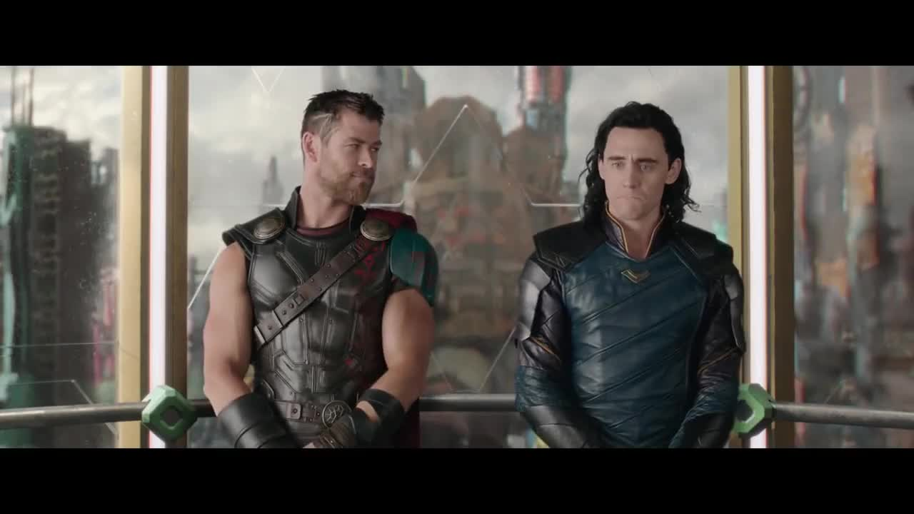 Action, Loki, Thor, celebs, chris hemsworth, clip, ign, mcu, movie, super-hero, tom hiddleston, Thor: Ragnarok -