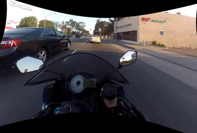 nonononoyes, Motorcycle heading through an intersection - Stabilized (GIF and HD gfycat in comments) (reddit) GIFs