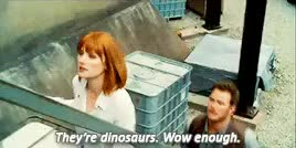 Watch and share Bryce Dallas Howard GIFs and Jurassic World Gif GIFs on Gfycat
