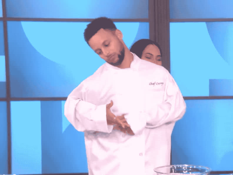 ayesha, ayesha curry, celebrate, cook, cooking, curry, dance, dancing, degeneres, ellen, excited, happy, music, party, rhythm, show, steph, style, woohoo, yo, Steph Ayesha Curry cooking style GIFs