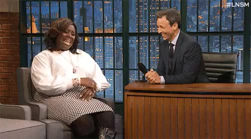 Watch Late Night With Seth Meyers GIF on Gfycat. Discover more celeb, celebrities, comedy, dancing, funny, gif, gifs, late night with seth meyers, lnsm, lol, parents, parks and recreation, retta, seth meyers, seth meyers parents, television GIFs on Gfycat