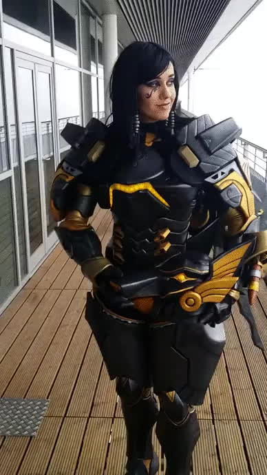 cosplay, overwatch, pharah cosplay GIFs
