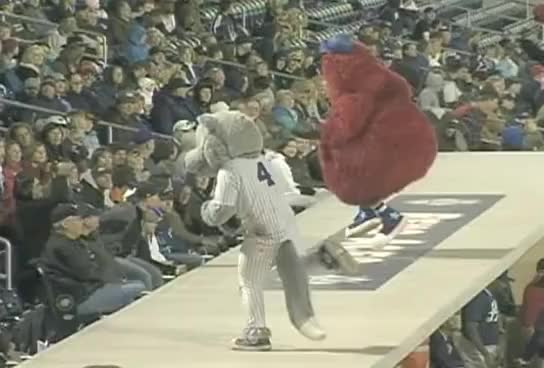 Watch and share Baseball GIFs and Mascot GIFs on Gfycat