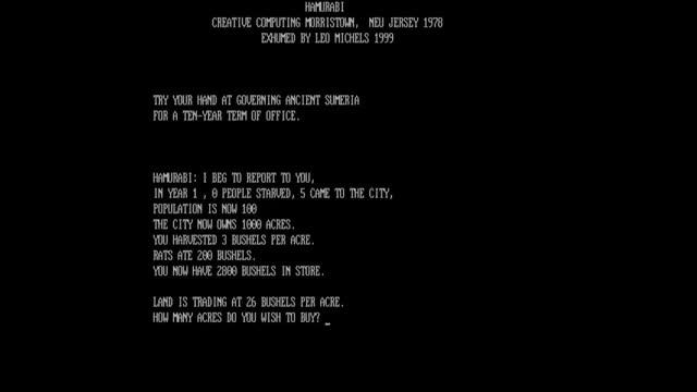 Watch and share Video Game : Hamurabi - 1968 GIFs on Gfycat