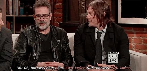 Watch and share Jeffrey Dean Morgan GIFs and Norman Reedus GIFs on Gfycat