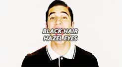 Watch ai GIF on Gfycat. Discover more also kurt he next, blaine anderson, darren criss, gleeedit, gtk, i think blaine's hair is more dark brown but i thought black was easier, mine**, my beautiful little angel!!!!!, my little son GIFs on Gfycat