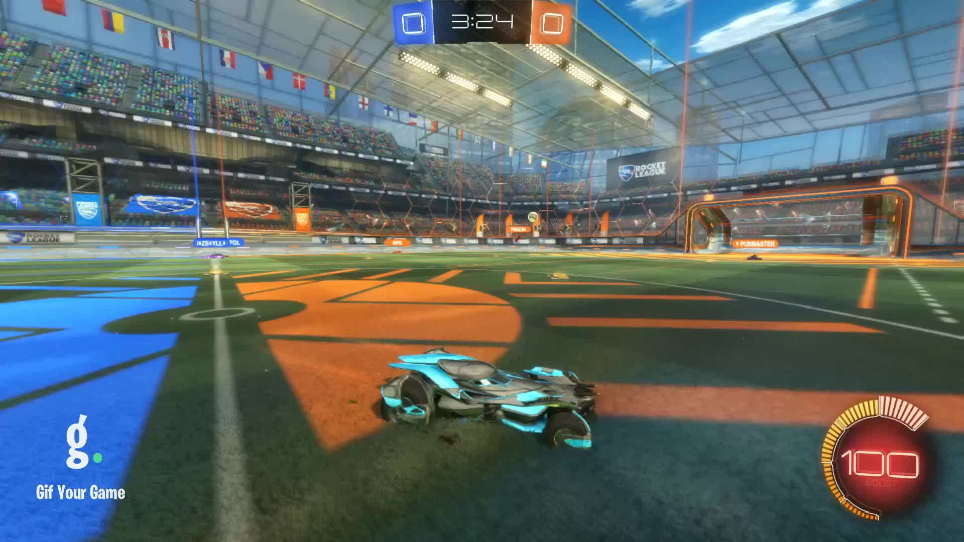 Gif Your Game, GifYourGame, Goal, Rocket League, RocketLeague, slobb on my knobb, Goal 1: slobb on my knobb GIFs