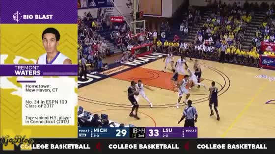 Watch Matthews/Wagner High Screen Flip GIF by MGoBlog (@mgoblog) on Gfycat. Discover more 2017-18, Basketball, Charles Matthews, LSU, Maui Invitational, Michigan, Moe Wagner, Moritz Wagner, Pick & Roll GIFs on Gfycat