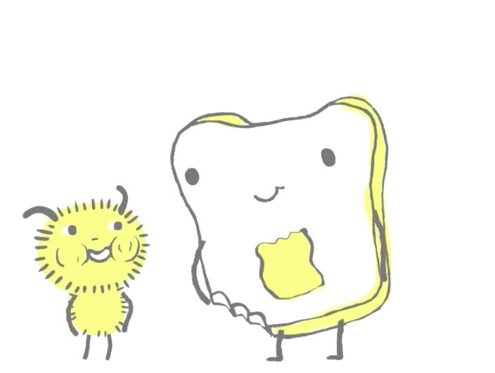 I, I love you, aww, awww, butter, couple, cute, forever, in love, like, love, romance, romantic, sweet, toast, together, you, I love you like toast loves butter GIFs