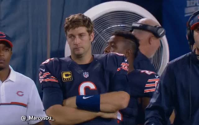 Watch and share Jay Cutler On The Sideline Don't Care GIFs by MarcusD on Gfycat