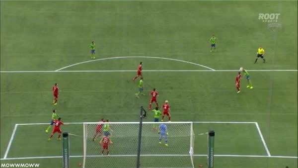 soccergifs, Obafemi Martin's post up goal vs Dallas. (reddit) GIFs