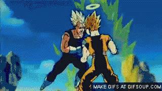 Goku vs vegeta GIFs