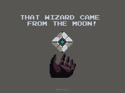 Watch and share That Wizard Came From The Moon (Pixel Art Gif) : DestinyTheGame GIFs on Gfycat