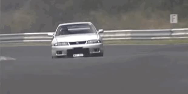 Watch and share Watch An R33 Nissan Skyline GT-R V-Spec Tear It Up At The Nürburgring GIFs on Gfycat