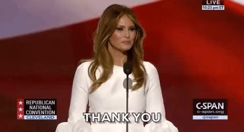 Watch and share Melania Trump GIFs and Thank You GIFs on Gfycat