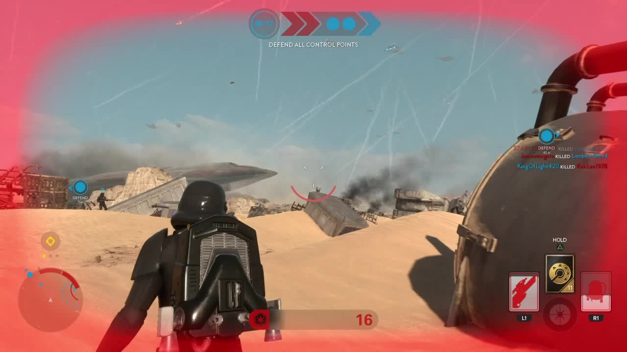 starwarsbattlefront, long-range pulse rifle kill GIFs
