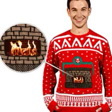 Watch and share Crackling Fireplace Knit Ugly Christmas Sweater Digital GIFs on Gfycat