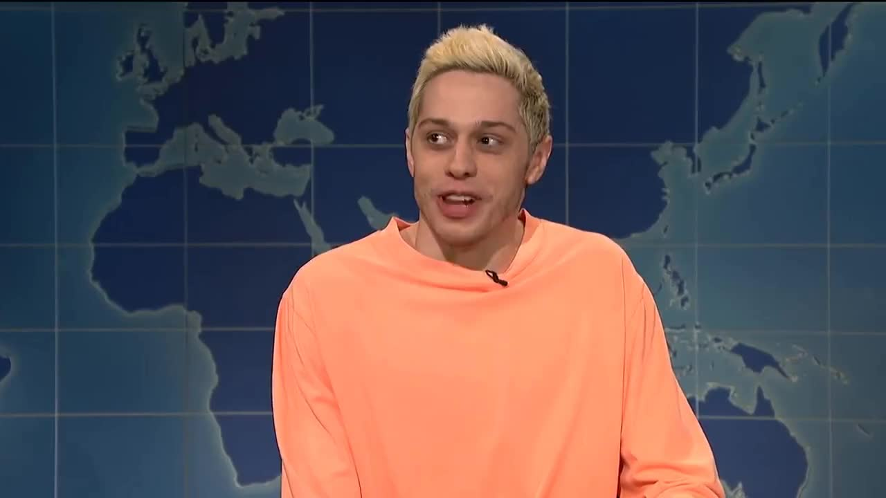 Live, NBC, SNL, actor, awkwafina, comedian, comedy, funny, guest, hilarious, host, impersonation, improv, laugh, live, musician, nbc, pockies, rapper, s44, s44e1, sketch, snl, Weekend Update: Pete Davidson on Kanye West - SNL GIFs