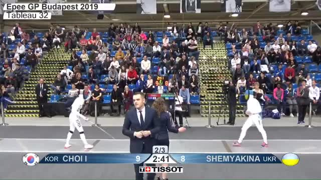 Watch CHOI I 10 GIF by Scott Dubinsky (@fencingdatabase) on Gfycat. Discover more gender:, leftname: CHOI I, leftscore: 10, rightname: rSHEMYAKINA, rightscore: 9, time: 00015336, touch: double, tournament: budapest2019, weapon: epee GIFs on Gfycat