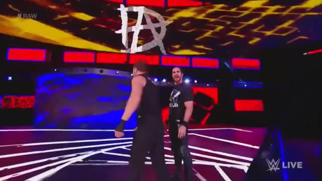 Watch and share Seth Rollins And Dean Ambrose Entrance - RAW: Dec 4. 2017 (HD) GIFs on Gfycat