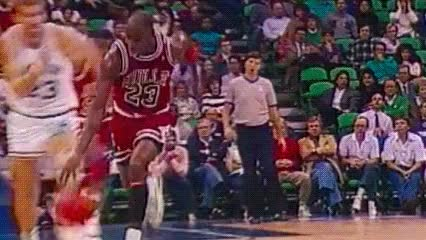Watch and share Michael Jordan GIFs and Chicago Bulls GIFs by Off-Hand on Gfycat