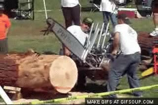 Watch and share Chainsaw GIFs on Gfycat
