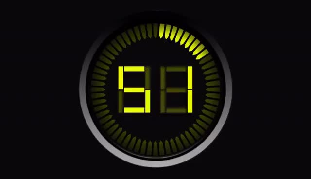 Watch and share Countdown Timer 60 Sec Yellow ( V 135 ) Ticking CLOCK With Sound Effects + Beep Alarm HD! GIFs on Gfycat